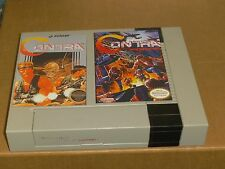 "NES NINTENDO CONTRA & CONTRA FORCE BOX COVERS  4"" X 6"" MAGNETS CUSTOM LOT DECOR"
