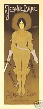 Repro Art Nouveau Style Print ' A Jeanne Darc'