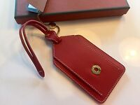 175$ Loro Piana Red Leather Name Tag Made in Italy