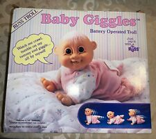 Troll Doll RUSS Baby Giggles Battery Operated Troll  NOS Unused in open BOX