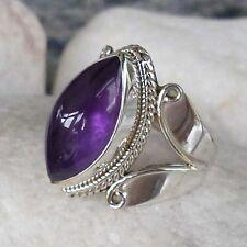 Ringe mit natürlichem Amethyst-Sets Edelsteinen