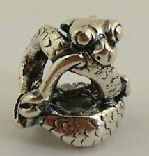 Authentic Sterling Silver  TROLLBEADS BABY DRAGON  FANTASY PENDANT.  New
