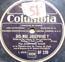 french france 78 RPM- JOSEPHINE BAKER- dis moi josephine - colombia 1940's
