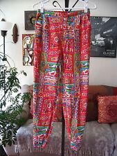 BIBA sz S Colorful Ethnic Indian Print Cotton Drawstring Pants
