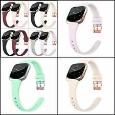 Silicone Thin Bands for Fitbit Versa 2/Versa/ Lite/ SE, Wristbands Metal Buckle