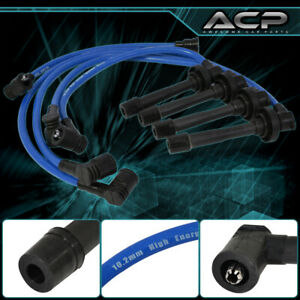 For 90-02 Honda Accord Lx Dx Ex 4Cyl JDM Racing Ignition Spark Plug Wire Blue