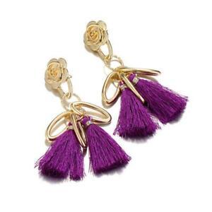 Women Bohemian Earring Long Tassel Fringe Boho Dangle Earrings Jewelry LA