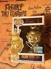 SDCC 2019 Freaky Tiki Funko Fundays Pop! Golden Freddy Idol LE1600 SIGNED RARE!