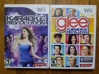 Karaoke Revolution + Karaoke Revolution Glee - Wii Lot of 2 Bundle Free Shipping