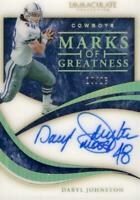 2020 Panini Immaculate Daryl Johnston Marks Of Greatness Auto 10/25 Cowboys