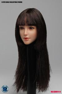 "SUPER DUCK 1/6 Asian  Head Sculpt Model SDH011B For  12"" Female Body"