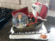 Disney Nightmare Before Christmas Large Jack Coffin sled Snowglobe  MINT W/BOX