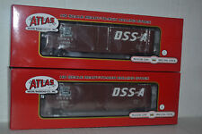 2 Atlas Duluth, Southern Shore & Atlantic DSS&A 50' Double Door Boxcar Ho Scale
