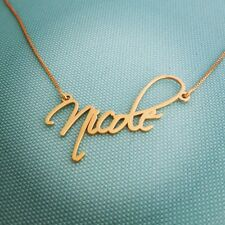 14k Solid Yellow Gold Personalized Name Necklace, Nicole necklace Order Any name
