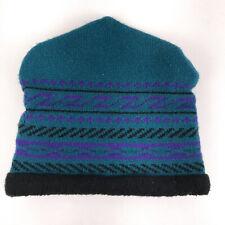 Vintage ski hat winter cap The Mews Made USA New Hampshire green geometric hbx12
