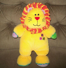 Kids Preferred LION Yellow Plush Lovey Crinkle Striped Mane 12.5in Colored Feet
