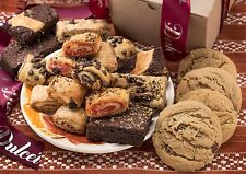 Dulcet Gift Baskets Assorted Kraft Box Filled with Cookies, Brownies