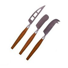 Pizzazz Wooden Handle Cheese Knife Stainless Steel Set - 3 Piece