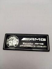 Logo AMG Affalterbach Mercedes Special Edition 8cmX3cm Noir