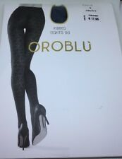 Oroblu Ribbed Tights 60 Cobalto Gr. S *neu* 💙🖤