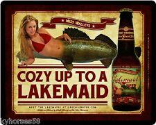 Lakemaid Beer Miss Walleye Refrigerator Magnet