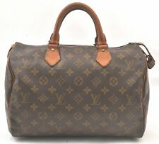 Authentic Louis Vuitton Monogram Speedy 30 Hand Bag Old Model LV A3590