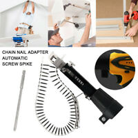 tomatic Chain Nail Gun Adapter Screw Woodworking Electric Drill Tool Plaster1