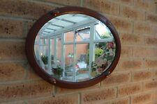 Antique Vintage Victorian Jacobean Oval Oak Wall Mirror Horizon Vertical Display