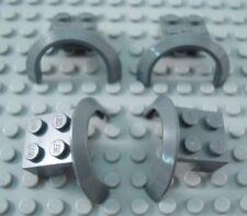 LEGO Lot of 4 Dark Bluish Gray 4x2 1/2x 2 Vehicle Car Truck Mudguard Pieces