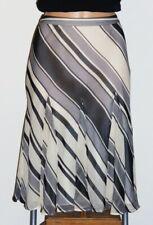 BANANA REPUBLIC_S-36-38_100% SOIE_Jupe DOUBLÉ Blanc/Noir_Vêtements Femme_Skirt