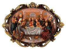 Exklusives großes Wandbild das letzte Abendmahl mit schönen Verzierungen 86x63cm