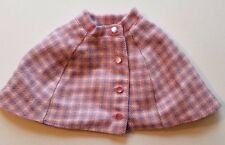 """American Girl 18"""" Doll PLAID CAPELET Cape Buttons Up Front Cozy Plaid Outfit"""