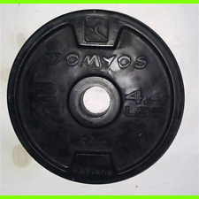 DISCO 2 KG PESO PALESTRA GOMMATO DOMYOS - Diametro 3 cm