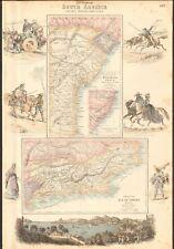 1874 ca LARGE ANTIQUE MAP- SWANSTON -BRAZIL, PROVINCE OF RIO DE JANEIRO