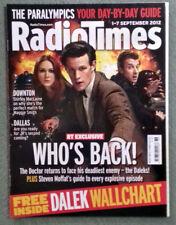 Radio Times 1-7 September 2012 DOCTOR WHO cover Dalek wallchart foldout