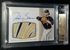 DANSBY SWANSON 2015 NATIONAL TREASURES PATCH AUTO RC #14/25 BGS 9.5/10 *POP: 1*