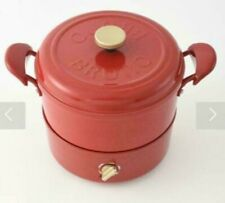 BRUNO Grill Pot Red BOE029-RD Fried Food Cover Steamed Kitchen DHL