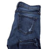Flying Monkey Womens 26 Skinny Jeans Blue Stretch Moto Style