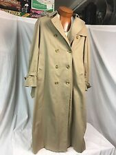 * Burberrys' Burberry * Double Breasted Beige Cotton Trench Coat England 14