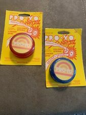 Vintage Pro Yo, Yo-Yo, Whizzz, 1983, Lot Of 2 Blue Model And Red Model NOS.