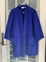 Chicos Women's Size 3 Blue Long Jacket