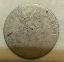 1712 d colonial new france 30 deniers silver musketeer coin