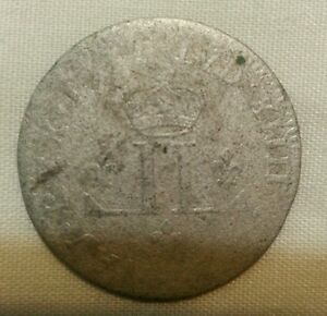 1712 d colonial new france 30 deniers billon silver musketeer coin
