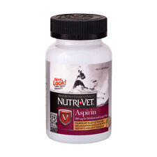 Nutri-Vet Aspirin for LARGE Dogs Supplements Joint Pain Arthritis Relief 75ct