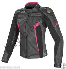 Women sports Motorbike Ladies Leather Jacket Motorcycle Racing Jacket XS-4XL