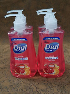 4 bottles - DIAL COMPLETE Liquid Pump Hand Soap 7.5oz - POMEGRANATE / TANGERINE