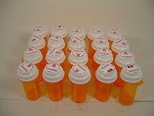 Amber Medicine Pill Bottles Crafts Coins Fishing Storage Bottle Lot of 20