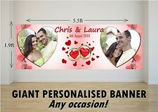 Personalised GIANT Large Congratulations Wedding Engagement Mr & Mrs Banner N74