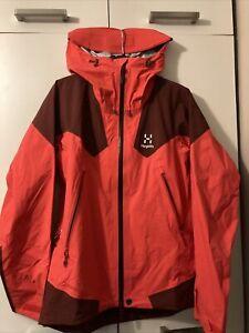 Haglöfs Roc Spire Jacket Women's Goretex Recco Small Hibiscus Red / Maroon Red