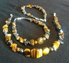 Tigers Eye Bracelet With Hematite Bespoke.  Natural Gemstones. Handmade To Order